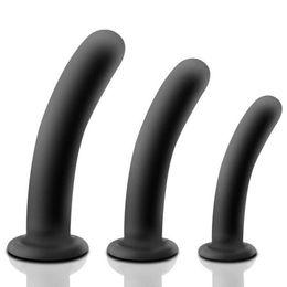 $enCountryForm.capitalKeyWord UK - Smooth Anal Plug SuctionCup Silicone Vagina Dildo Adult Sex Toys for Woman Prostate Massage Butt Plug Masturbator For Men D18111502