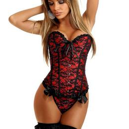 2a6e871ba93 Sexy lingerie Women steampunk gothic Plus Size S-6XL Corsets Lace Up boned  Overbust Bustier Waist Cincher Body shaper corselet