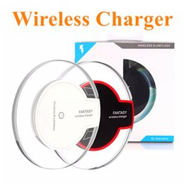 Wholesale High Quality Qi Wireless Charger Charging For Samsung S6 S7 Edge S8 Plus iphone X Fantasy High Efficiency Pad with retail package