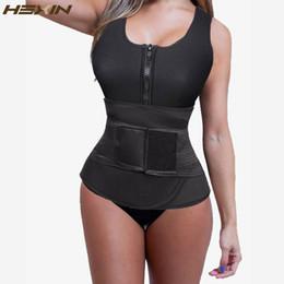 2ec41ee0b2 HEXIN Neoprene Women Vest With Zip for Weight Loss Sauna Suit Tank Top  Ajustabl Workout Waist Trimmer Belt Body Waist Trainer