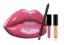 $enCountryForm.capitalKeyWord UK - HOT Beauty lipstick Big mouth lip gloss + lip liner set makeup lipstick 5 colors 3pcs set with iron retail box