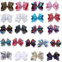 $enCountryForm.capitalKeyWord Australia - Hair Clips 8 Inch Rhinestone Hair Bow Jojo Bows With Clip For Baby Children girls Large Sequin Bow Unicorn Bow Factory Price CNY345