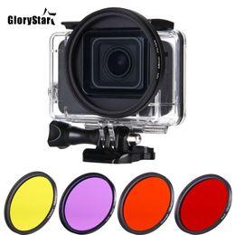 $enCountryForm.capitalKeyWord Australia - 58mm UV Red Yellow Purple Orange Color Filter +Lens Cap+ Adapter Ring for gopro Hero 5 Waterproof Housing Case