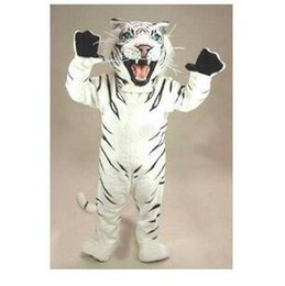 adult santa claus suit UK - Mascot Costumes Adult Size high quality professional custom bengal tiger cat mascot head costume suit halloween