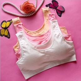 Natural Cotton Underwear Australia - 100pcs Children Training Bra Teenage Girl Sports Bras Cotton Underwear Puberty Young Girls Small Bras For Girls Clothing