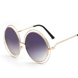 ac83ed4de6 De lujo de gran tamaño gafas de sol redondas mujeres de la manera de gran  tamaño grande Retro Espejo Gafas de sol Señora Mujer Vintage Diseñador de  la marca ...