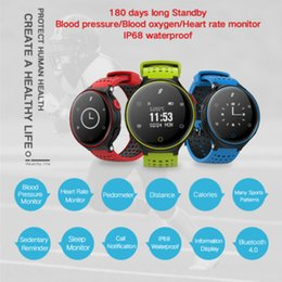 Android Smart Watch X2 NZ - X2 Plus Smart Bracelet Watch Heart Rate Monitor Pedometer Sleep Tracker Smart Band FitnessTracker for Android IOS iPhone Cheap DHL