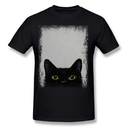Nueva Llegada Mens Por Ciento de Algodón BLACK CAT Camiseta Mens Crewneck Carbon Shorts Camiseta Extra large Size Cool T-Shirt