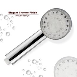 Water Color Change Plastic Australia - Automatic 3 Color Changing LED Light Handheld Rainfall Shower Head With Temperature Sensor