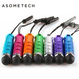 Ipad stylus pens online shopping - Mini Touch Sreen Pen Capacitive Stylus Pen Soft Anti Dust Dustproof Plug Stylus Universal For Samsung IPhone IPad Earphone