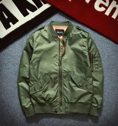 l style flights Canada - men thin Jacket Puffer Style Thick Army Green Military Flying Ma-1 Flight Jacket Pilot Ma1 Air Force Men Bomber Jacket 055