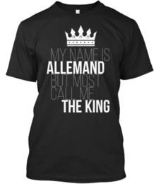 $enCountryForm.capitalKeyWord NZ - Allemand Most Call Me The King T-shirt Élégant Tees Shirt Men's Best Design Custom Short Sleeve Boyfriend's Plus Size Team Tshirts