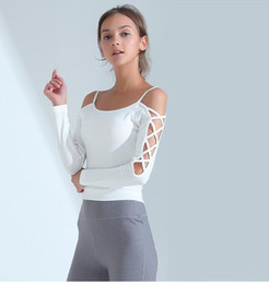 $enCountryForm.capitalKeyWord Canada - Women Sports Clothing Running Wear Sexy Slim Gym Fitness Hoodies High Waist Elastic Pant Workout Sport Suit Yoga Set