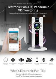 Nuovo 720P HD 180 angolo Panoramica VR Night Vision CCTV Telecamera di sorveglianza Mini WI-FI IP Sicurezza domestica Telecamera Audio Baby Monitor IP Cam in Offerta