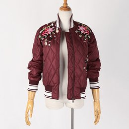 men embroidered winter jackets 2018 - 2018 Autumn and Winter New Long-sleeved Jacket Women's High-quality Embroidered Baseball Uniform Wild Jacket discou