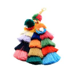$enCountryForm.capitalKeyWord UK - Handmade Hair Ball Tassel Keyring Keychains Fashion Creative Charm Buckle Key Holder Key Ring Pendant Bag Accessory Ornament Free DHL H698F