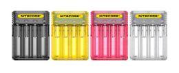 E Cig Batteries Imr NZ - Original Nitecore Q4 Quick Battery Charger 4-Slot 2A Intellicharger Universal E Cig Chargers For 18650 26650 20700 IMR Li-ion BatteryQuick