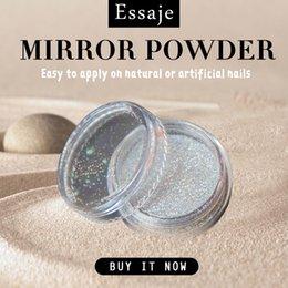 Shining Dust Glitter Australia - EASSAJE Shining Powder Nail Art Pigment Chrome Pigment Mirror Gel Powder for Nail Decoration Glitter Dust Glitter