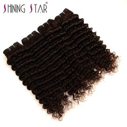 Bulk Hair Dye NZ - Top Deep WAVE Human Hair Bulk Extensions 4pcs Bulk Hair For Braiding No Attachment Unprocessed Deep Wave Peruvian Hair Weave Bundles