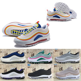 sports south 2019 - 2018 Designer 97 Running Shoes Sail pink South Beach pull Tab Silver Bullet Triple White Black Men Women Trainer Sport S