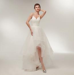 7389ff4815 Vestidos de boda elegantes del verano con las correas Vestidos de novia del  cuello en v