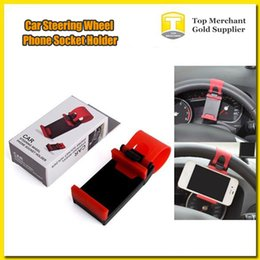 $enCountryForm.capitalKeyWord NZ - Free shipping Phone Holder Car Streeling Steering Wheel Cradle flexible stand SMART Clip Bike Mount for Mobile iphone samsung Cell Phone