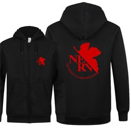 $enCountryForm.capitalKeyWord UK - Omnitee Autumn Pullover EVA Neon Genesis Evangelion Hoodies Cool Printed EVA Sweatshirt Men Fleece Zipper Jacket Men Clothing