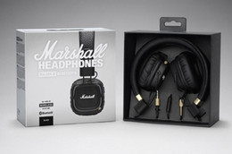 Chinese  Marshall Major II 2.0 Bluetooth Wireless DJ Headphone Deep Bass Noise Isolating Headset Earphone for iPhone Samsung Cell Phone Free Ship manufacturers