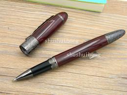 HigH end art online shopping - Business Writing Supplies metal High end luxurious gift Dark red Gun black carve classical Pattern Writer series Defoe Rollerball Pen