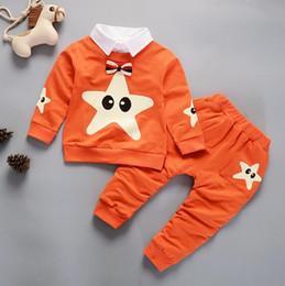 2018 primavera nova versão coreana do terno de menino de algodão terno de bebê menino de manga longa venda por atacado
