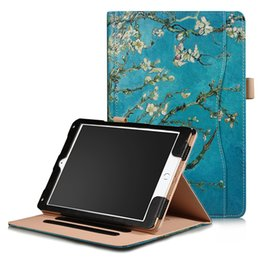 Painting sleePing online shopping - Painted PU Leather Case for iPad Air Air New iPad Tablet Auto Sleep Wake Up Smart Cover