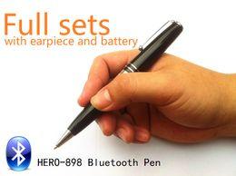 Discount bluetooth listening - EDIMAEG High Quality Bluetooth Pen with wireless Earpiece 50-60cm Long Transmitting Distance Can Listen During Writing,