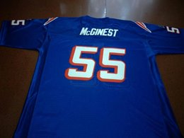 889b88ef Men BLUE WHITE #55 Willie McGinest Game Worn RETRO College Jersey 1990 With  Team Size S-4XL or custom any name or number jersey