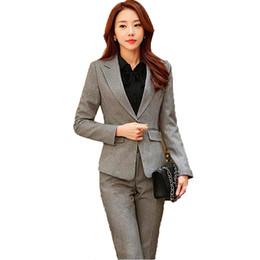 $enCountryForm.capitalKeyWord Canada - Korean Professional suit women's suits Blazer jacket+trouser+skirt+shirt 4,3,2piece sets blue office suits for women blazer set