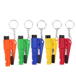 Auto Escape Australia - Key Chain Mini Safety Hammer Auto Car Window Glass Breaker Seat Belt Rescue Hammer Escape Tool with Keychain Seat Belt Knife Retail Package