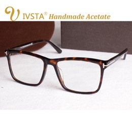 Animal Handmade Canada - IVSTA TF 5147 5146 5040 5407 6123 with logo Real Handmade Acetate Spectacle Frame Glasses Men Cat Eye Optical Prescription Dropshipping CE