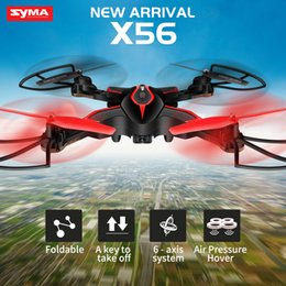 Helicopters Toys Camera Australia - SYMA X56 Foldable Drone 2.4G 4CH 6-axis RC Helicopter Quadrocopter Dron without Camera Remote Control Quadcopter RC Toy Gift