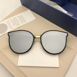 Discount hipster eye glasses 2018 Fashion Lady Sunglasses Cat Eye Polarized Sunglass New Hipster Sunglass Luxury Round Mirror Sunglasses Brand Luxury