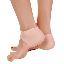 $enCountryForm.capitalKeyWord NZ - 1 pair Foot Care Tool Soft medical silicone insoles Moisturizing Gel Heel Socks Cracked Foot Skin Care Protector Reusable