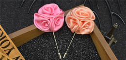 stick pin for suit Australia - Rose Flowers Brooch Handmade Boutonniere Stick Brooch Pin Flowers For Gentleman Suit Wear Men Accessories YM011