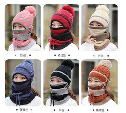 $enCountryForm.capitalKeyWord NZ - Winter Warm Hats Masks Neckerchiefs For Women Wool Letter Pompon Casual Hip Hop Knitted Caps Hat Scarf Female Beanies Cheap