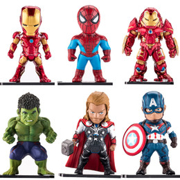 hulkbuster toys Canada - 6 Style Avengers 3 Infinity War Figure toys 2018 New Iron Man spiderman Captain America Hulk Thor Hulkbuster model Figure Toy B