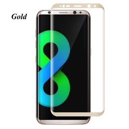 S6 Edge Screen Case Australia - Case Friendly For Samsung Galaxy S9 S8 Plus Note 9 8 S7 S6 Edge 3D Curve Edge HD Clear Tempered Glass Screen Protector With Package