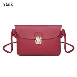 83cd22317aa9 YTAIK 2018 New Women Mini Flap Messenger Bag PU Leather Girls Simple Pure  Color Female Small Handbags Casual Shoulder Bags