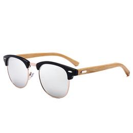 0683dafa3f5c9 Half Metal Bamboo Sunglasses For Men Women Brand Designer Hot Rays Vintage  Wooden Hand Made Mirrored Wood Mirror Sun Glasses