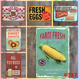 Metal farM online shopping - FARM FRESH BEST IN TOWN cm ADV Paint Metal Tin Signs Room Home Decor Wall Art Painting Crafts Supplies Poster