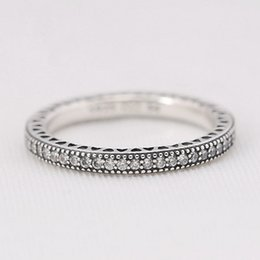 9e608f86d Manual Mosaic Dazzling CZ Charm Ring Size Marked Solid 925 Sterling Silver  European Style Jewelry Findings For Pandora