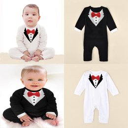 3a7d72663cb2 Gentleman Kids clothing romper Newborn childrens clothing baby clothing  autumn and winter models baby red bow baby boy Gentleman suit