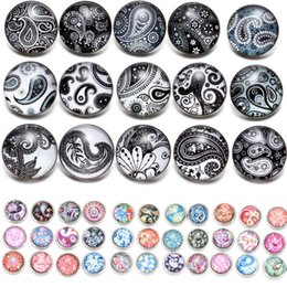 $enCountryForm.capitalKeyWord Australia - Newest Paisley Pattern 12mm 18mm glass snap button jewelry charm popper for bracelet 12pcs lot noosa,jewelry making supplier