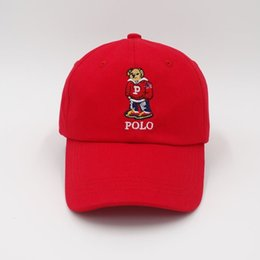 wholesale polo fashion sport NZ - women and men bear cap Embroidery hats polo solid color hats outdoor cotton sports sunscreen fashion Hip hop 14 5xh